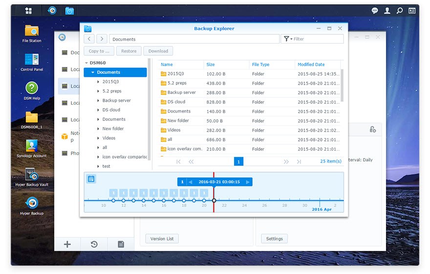 Synology Data Backup: How to choose between Snapshot