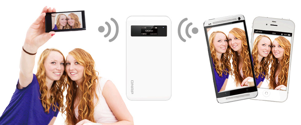 QGenie Mobile-NAS-File-storage-sharing-on-the-go